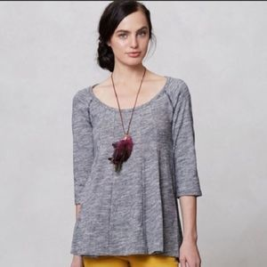 Anthro | Deletta Pathed Seams Swing Blouse Size S